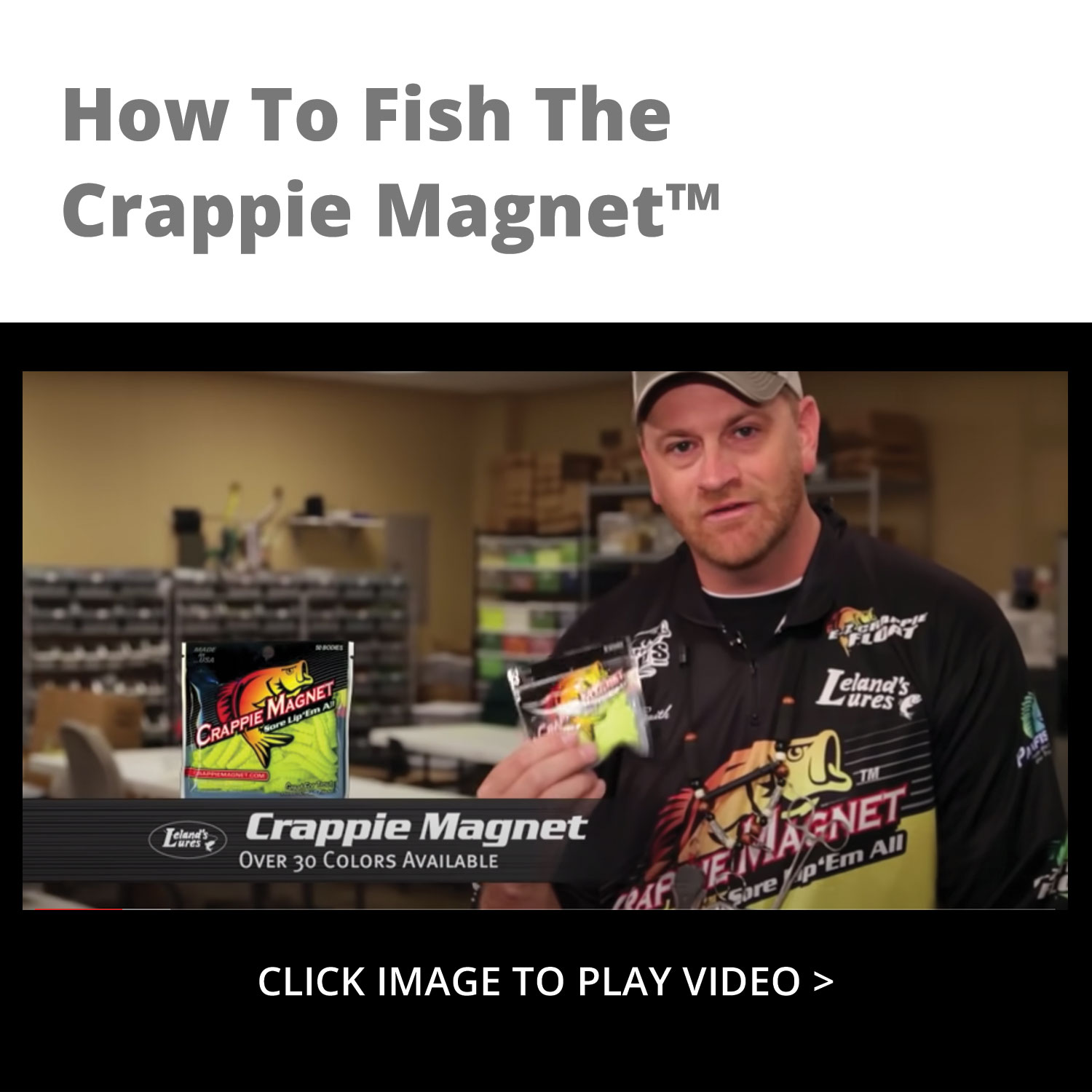 Leland Lures Crappie Magnets 2 packs 30 pc total chicken