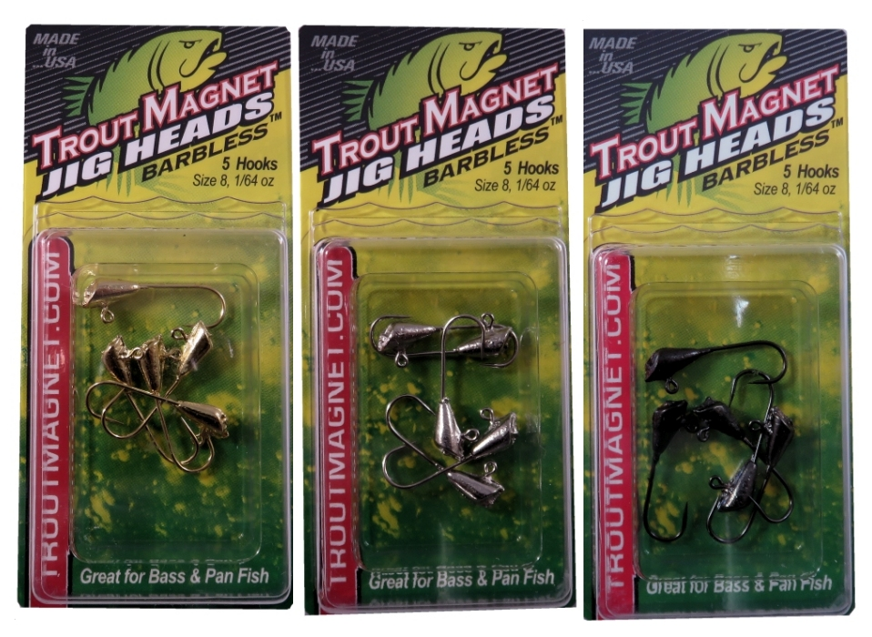 BARBLESS Trout Magnet Jig Heads