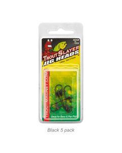 Trout Slayer Jig Head-1/64oz Black 5pk