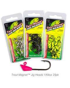 Trout Magnet™ Jig Heads-1/64oz 25pk