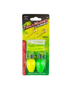 Trout Magnet Combo Pack-White/Chartreuse