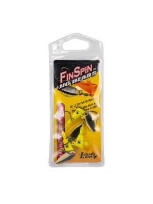 Fin Spin Jig Head- Chartreuse 1/8oz 3pk